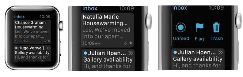 Apple Watch email