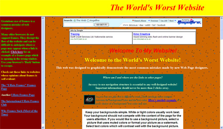 Worst website in the world