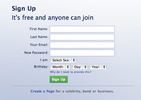 sign up for facebook - DriverLayer Search Engine