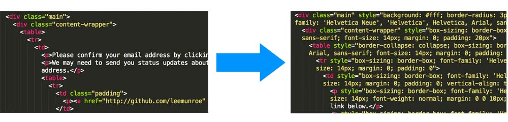 Optimize your html email design workflow with for Css inline table