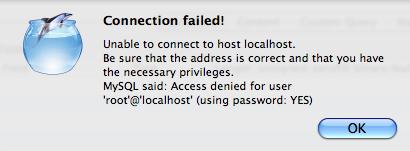 CocoaMySQL error